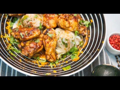 Куриные крылышки в остром соусе с картофельной колбаской   КПЗ. Офлайн