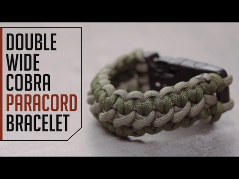 Double Wide Cobra Paracord Bracelet