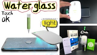 BESTSUIT-UV Light Full Glue Adhesive Tempered Glass Screen Protector for Samsung galaxy S8 or S9