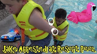 COPS CHASE JAKE AT AMAZING RESORT POOL! KID ARRESTED IN LAZY RIVER!