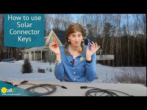 Solar panels have a locking solar connector on the cable on the back. We show you how to use the MC4 and H4 a couple of different solar connector keys to unlock them to disconnect your solar panel. We even show you how to disconnect the MC4 and H4 connecto
