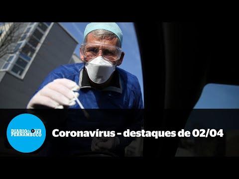 A pandemia em Pernambuco - destaques de 2 de abril