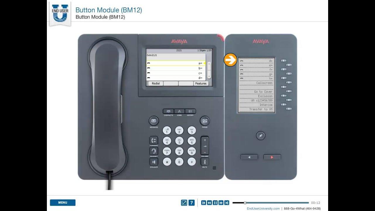 Avaya Button Module Bm12 Overview Youtube