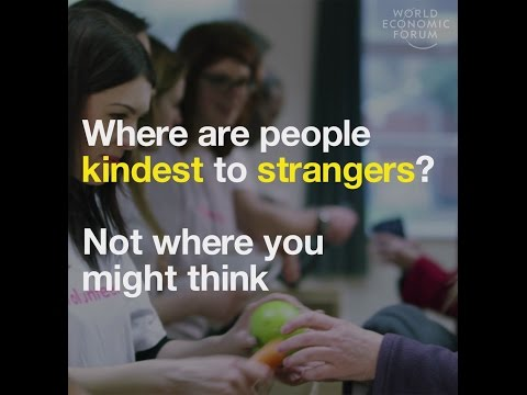 Where are people kindest to strangers? Not where you might think