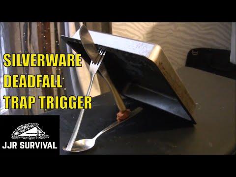 Silverware Deadfall Trap Trigger