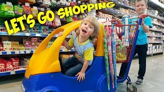 Children Song - Let's Go Shopping with Roma and Kirill