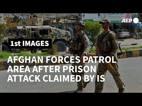 Afghan security forces on patrol near prison attack claimed by IS | AFP