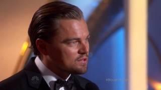 Leonardo DiCaprio exceptional winner speech at the 71st annual golden globe awards 2014