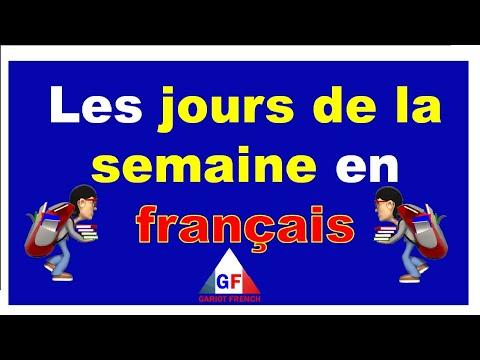 Los días de la semana en Francés y Español - Los días de la semana en Francés y Español