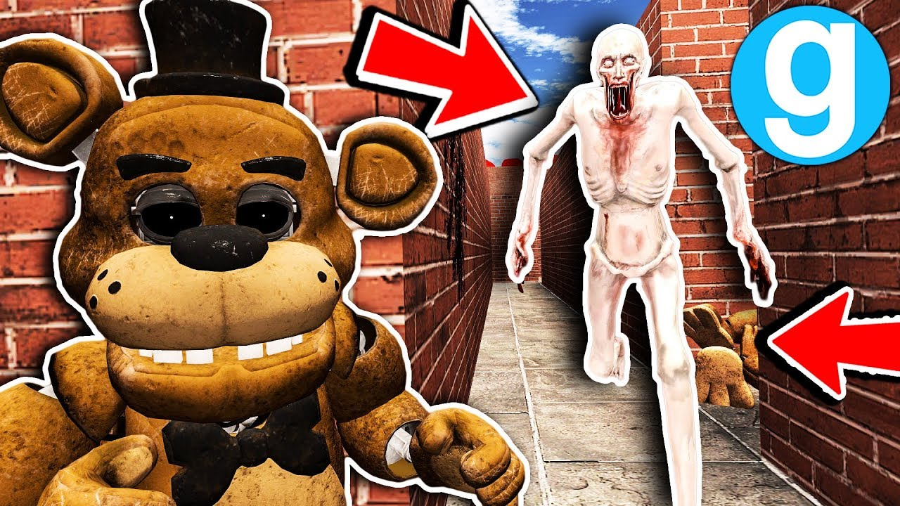 New SCP-096 Found VR Freddy in Maze! - Garry's Mod SCP Roleplay - FNAF Gmod