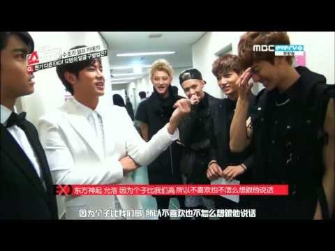 允浩因高度問題不喜歡燦烈@EXO's Showtime EP1