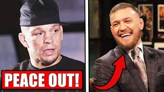 Nate Diaz announces RETIREMENT AGAIN, Conor McGregor releases training footage, UFC Moscow face offs