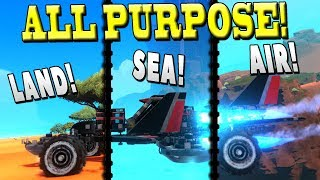 THIS VEHICLE DOES IT ALL! (Car+Jet+Hovercraft?) - Trailmakers Early Access Gameplay Ep16