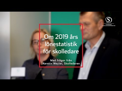 Lönestatistik för skolledare 2019 - en intervju med Matz Nilsson och Maria Andrén Bergström