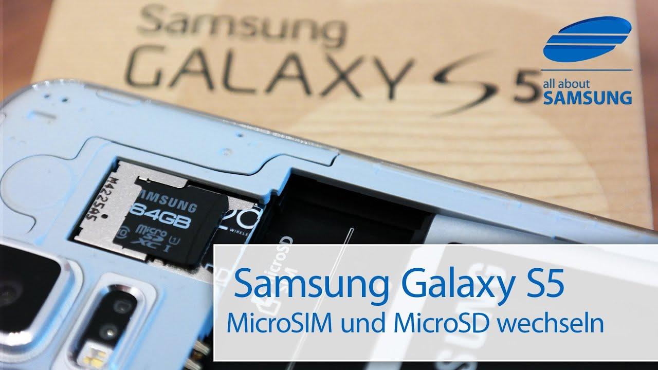 samsung galaxy s5 microsim sim microsd karte akku. Black Bedroom Furniture Sets. Home Design Ideas