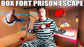 24 HOUR BOX FORT PRISON ESCAPE!! 📦🚔  ZOMBIE PRISON ESCAPE