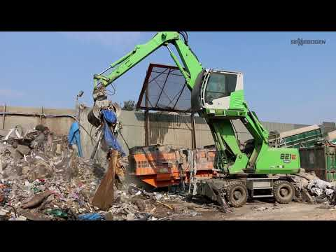 SENNEBOGEN 821 E Mobil - Abfallrecycling bei Clearaway Ltd., Großbritannien