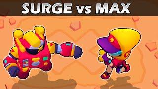 SURGE vs MAX | 1vs1 | 18 Test | Brawl Stars