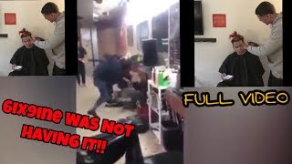 *FULL VIDEO* 6ix9ine FIGHTS his barber for messing up his hair!! GETS INTENTS
