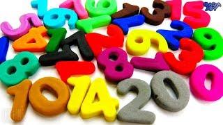 Aprende a contar del 1 al 20 Play Doh Números |Aprender a Contar Con Espuma Blanda Brillo 1-10
