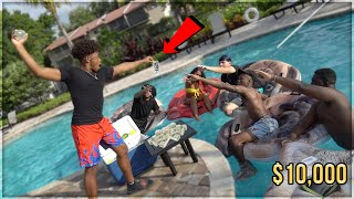 LAST TO FALL IN POOL WINS $10,000! - Challenge