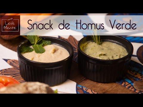 Snack de homus verde