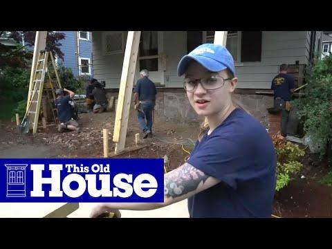 Newton Generation NEXT House: Apprentices Help Frame the Porch