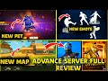 free fire new update  New pet,new character,new map,Looby,new minecraft, Advance server full details