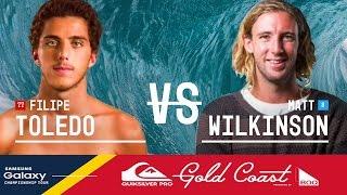 Filipe Toledo vs. Matt Wilkinson - Quiksilver Pro Gold Coast 2016 Semifinals