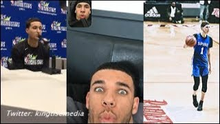 "Kyle Kuzma On LaMelo Ball Joining LAKERS w/ Lonzo ""I Wouldn't Touch The Ball""; Lonzo & Melo REACT"