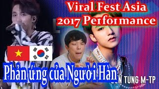 VPOP Reaction Viral Fest Asia 2017 Performance   Sơn Tùng M TP