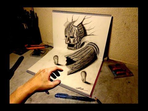 3d drawing how to draw 3d art 3d ball 3dアートの制作風景