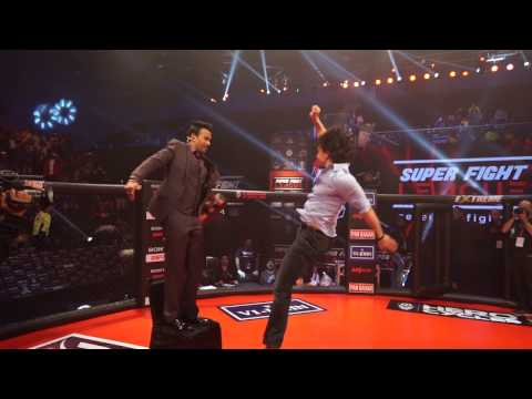 Tiger Shroff pulls off amazing stunts in the Super Fight League cage!