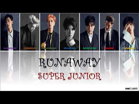 Super Junior (슈퍼주니어) - Runaway lyrics [Kor|Rom|Eng Color Coded]