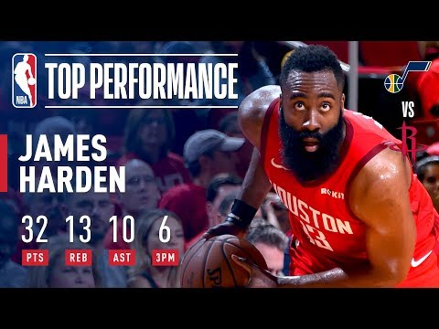 James Harden Notches His 3rd Career Playoff TRIPLE-DOUBLE | April 17, 2019