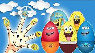 Spongebob Squarepants Egg Surprise Finger Family - ABC Song Finger Family Nursery Rhymes Lyrics