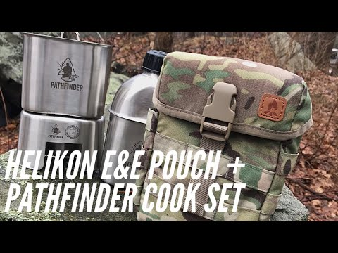 Helikon E&E Pouch + Pathfinder Canteen/Cook Set: Solid Combination for Survival and Bushcraft