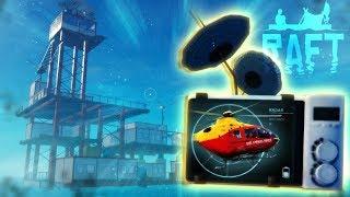 Raft - THE ENDING! - Hidden Radio Tower, Island Exploration, Radio Receiver & Shark! - Raft Gameplay