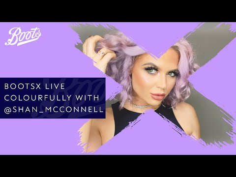 boots.com & Boots Voucher Code video: Hair-Care Tutorial | Live Colourfully with @shan_mcconnell and @shrine | BootsX | Boots UK