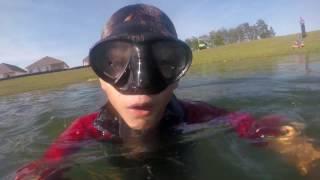 first vlog pond diving