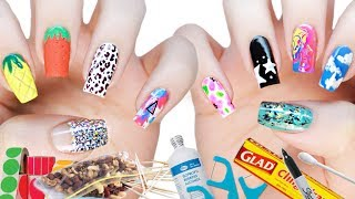 10 DIY Nail Art Designs Using HOUSEHOLD ITEMS!   The Ultimate Guide #3