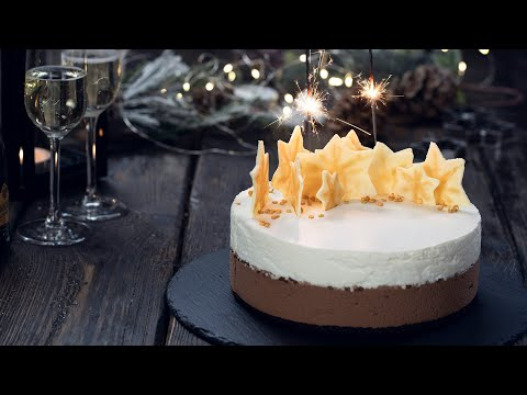 Chocolate Champagne Mousse Cake