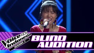 Evelyn - Crazy | Blind Auditions | The Voice Kids Indonesia Season 3 GTV 2018