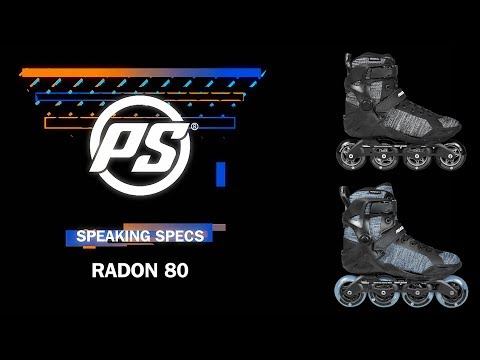 Video POWERSLIDE RADON 4x80 Fitness Roller Black White