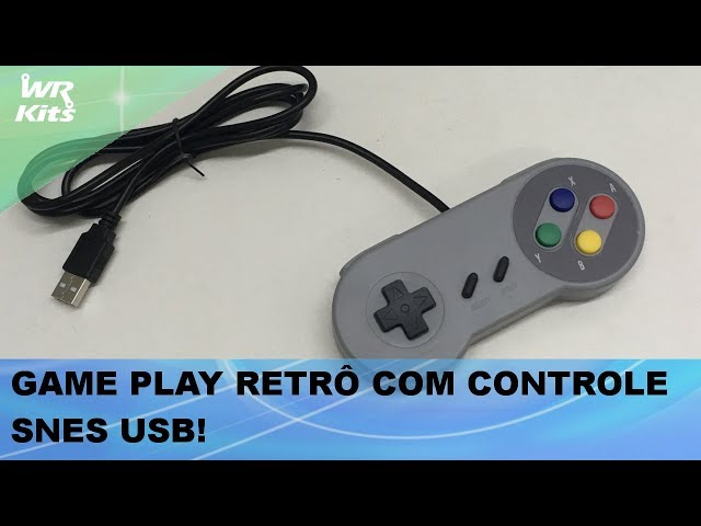 CONTROLE USB MODELO SUPER NINTENDO E GAME PLAY!