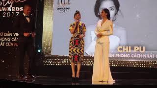 Gil Lê tủm tỉm cười khi Chi Pu lên sân khấu nhận giải Nữ diễn viên phong cách nhất