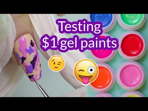 Best Affordable Gel Paints = One Color + Nail Art! Camo Nail Design | Saviland