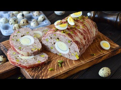 Мясной рулет с яйцами и фисташками ☆ Новая паровая печь Panasonic