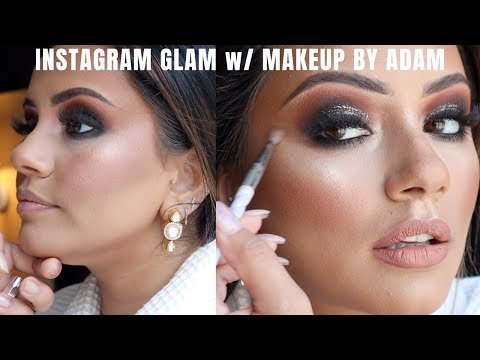 INSTAGRAM GLAM MAKEUP GET READY WITH ME WITH MAKEUP BY ADAM