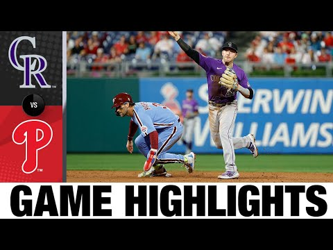 Rockies vs. Phillies Game Highlights (9/9/21)   MLB Highlights
